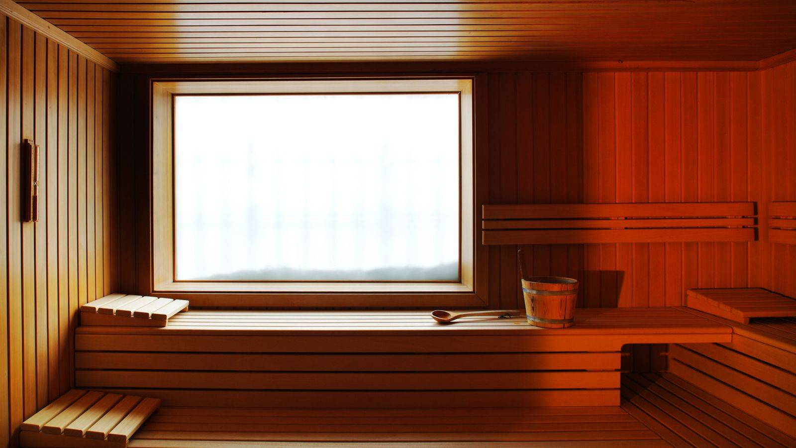Detail of the Hotel Costabella's sauna